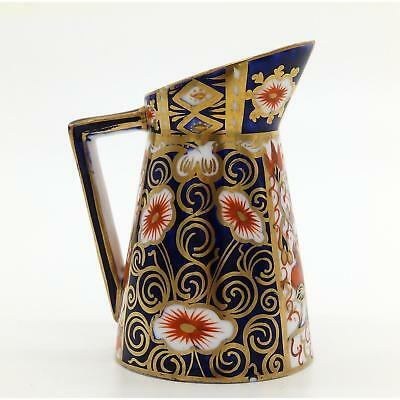 Antique Royal Crown Derby Porcelain : A novelty Milk Jug - Imari Pattern C.19thC