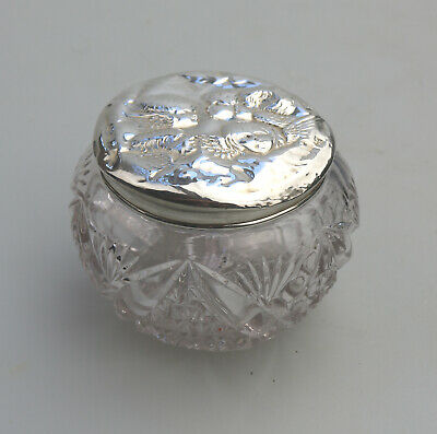 Antique Solid Silver a pretty Reynolds' Angels large Jar Box Birm 1905
