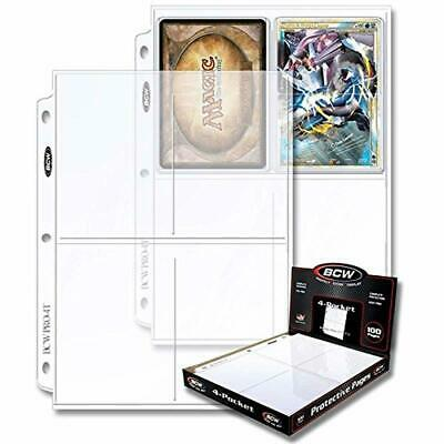 4-Pocket Photo Page Sleeve Photos Organizer 3-Ring Binder Albums 100 Count New