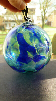 Vintage Mouth Blown Glass Kugel / Witches Ball / Friendship Ball