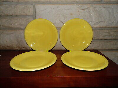 Fiesta 7 1/4 Salad Plate in Sunflower  set of 4  NEW Never Used Fiestaware