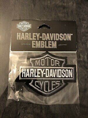"""Harley Davidson Motorcycles Small Patch Bar Shield Blue and Black 3.5/""""x2.75/"""""""