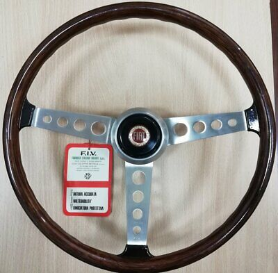 AUTHENTIC Classic NOS SECURA FIV Wooden Steering Wheel FIAT 850 Coupe & Others