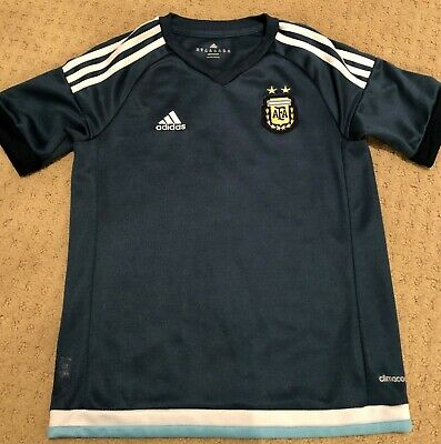 0ce5ddf7499 ARGENTINA 2015/16 Youth Away Adidas Soccer Football Jersey AFA Size UK 12Y  US M