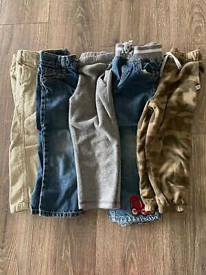 a16f4be92 Toddler Boys 3T Pants Jeans Lot Of 5 - Crazy8, Carter's, Old Navy