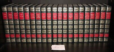 Lot of 20 ALFRED BERNHARD Leather Nobel Prize Library Books Complete Set Alexis