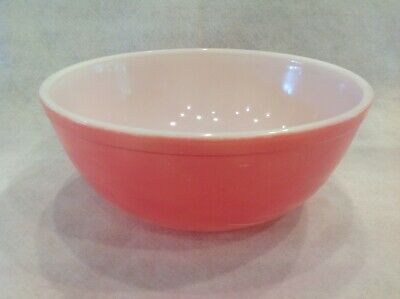 Vintage PYREX Solid Colors PINK 4 qt Mixing Bowl 404 Made in USA