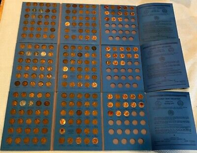 (3) Comp. Lincoln Wheat Penny Cent Collection Whitman Album 1941 - 1958 + P D S