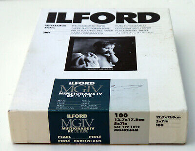 "Ilford Multigrade IV RC DeLuxe B&W Paper (Pearl, 5 x 7"", 100 Sheets)"