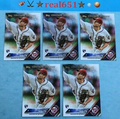 2016 Topps Update #US213 LUCAS GIOLITO Rookie Lot x 5 RC w/ Rainbow Foil Chicago