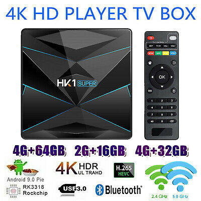 HK1 Android 9.0 4K Smart TV Box RK3318 5G WiFi BT 3D USB3.0 4GB+64GB Set Top Box