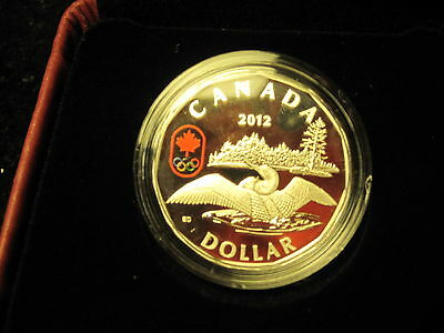 """Canada 2012 """"LUCKY LOONIE"""" 25 Years Of The Loonie Coin-99.99% Fine Silver"""