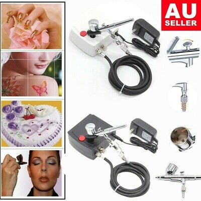 Mini Airbrush Compressor Kit Dual Action Spray Gun Air Brush Needle Tattoo 2019