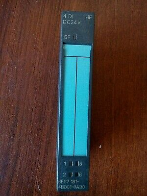 Siemens Simatic Modules For Et 200S 6Es7131-4Bd01-0Ab0 4 Di High Feature 24V Dc