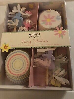 "08f3a6de0ec27 Meri Go Round ""Fairy Wishes"" 24 Cupcake Liners and Fairy Toppers- NIB"