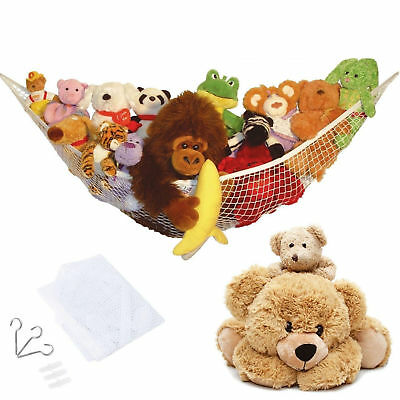 Jumbo Toy Hammock Organize stuffed animals or Baby's toys with the mesh hammock