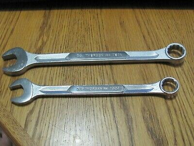 """Vintage Thorsen 3/4"""" & 5/8"""" Combination Wrenches  12PT USA MADE No.  2024  2020"""