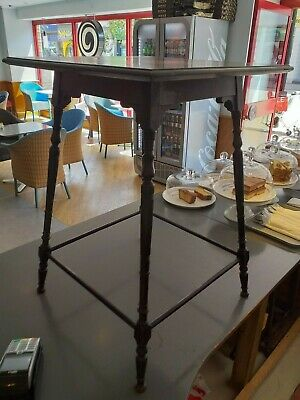 ANTIQUE VICTORIAN ROSEWOOD  aesthetic table FINELY TURNED LEGS   CIRCA 1890
