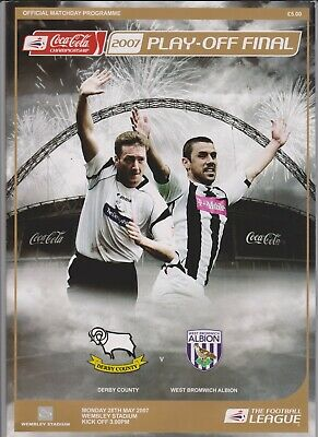 2007 Championship Play - Off Final Programme  -  Derby County v West Brom