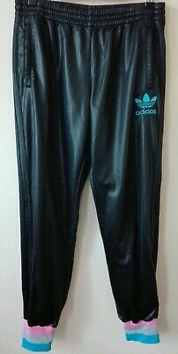 29aa1af10d226 Adidas Original Chile 62 LADIES Shiny Glanz Wet Look Pants Bottoms Trousers  sz40