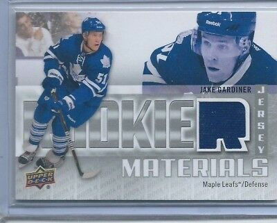2011-12 Upper Deck Rookie Materials #RMJG Jake Gardiner - NHL Hockey Jersey Card