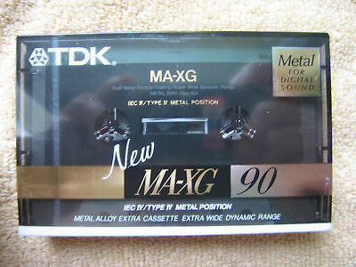 TDK MA-XG 90 Type IV Metal Tape Cassette Audio Kassette blank OVP sealed neu new