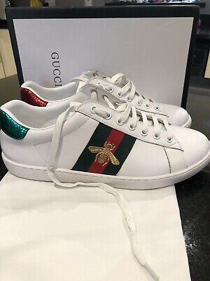 41d0af4ca Gucci Men's Trainers Size 8 Ace Bee embroidered - Worn Twice - Immaculate