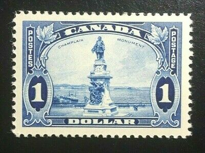 Canada #227 VF MNH, KGV Pictorial Issue - Champlain Statue Stamp 1935 (1)