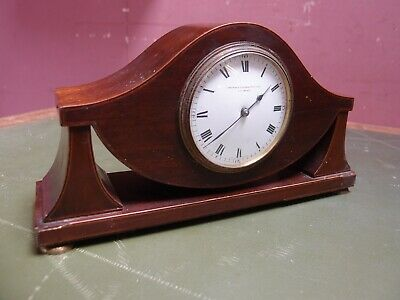 Antique Edwardian Art Nouveau Inlaid Mahogany Mantle Clock Non-Working Project