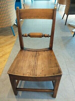GEORGIAN regency era  c.1820 oxford COUNTRY fruitwood chair antique barrel seat