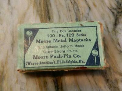 Moore Metal Maptacks, Push Pins These are Very Old ***Special*** (PIN2019)