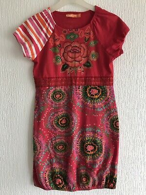 Age 13/14 Yrs Desigual Red Sequin Dress Summer/Towie/Pony/Celeb/Kylie/Kim/Celeb