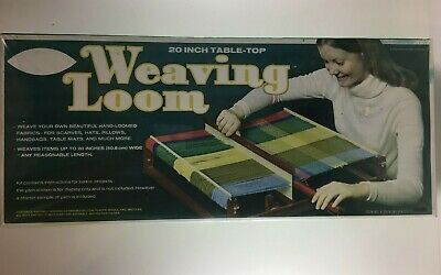 Avalon Weaving Loom 20-Inch tabletop Wood Vintage 70s Youth Unopened NOS