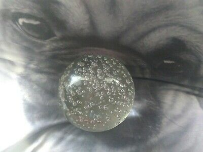 Controlled Bubble Glass Paper weight Heavy 1.18 kg Clear glass Smooth 10 cm dia