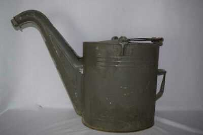 Vintage Watering Can Oil Canister with wooden handle