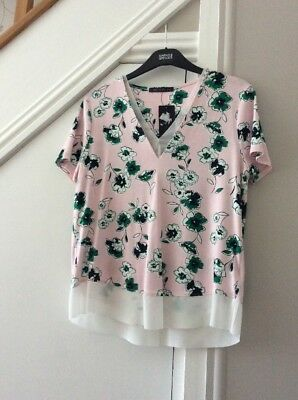 Marks & Spencer Pink Mix Top Size 12 New/Tags