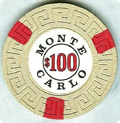 Monte Carlo Casino (Reno) $100 Chip (Su) (N8801) (Tcr Rated N) (Tcr 19 Rated N-R