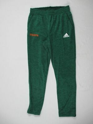NEW adidas Miami Hurricanes - Green Climawarm Athletic Pants (Multiple Sizes)