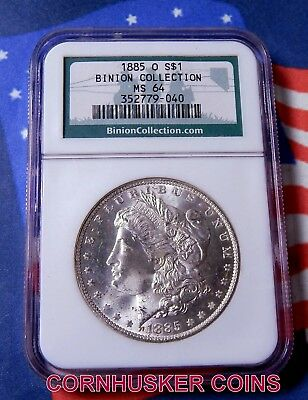 1884-O Morgan Silver Dollar Ngc Ms 64 Binion Collection Blast White Gem!