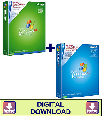 Windows XP Home Edition + Professional 32 Bit SP3 Install Repair ISO (Download)