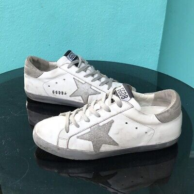 dda98fc5f GOLDEN GOOSE WOMEN'S Superstar Sneaker Leather Silver Black ...
