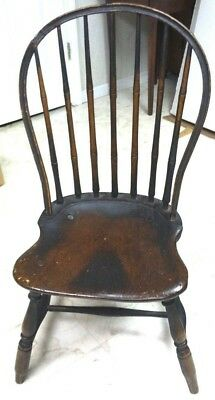 Museum Qual Antique c.1780 18th Century Rhode Island Windsor Chair Old Surface!