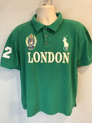 475694f6c Ralph Lauren's Polo Team London Embroiled Mens M Medium #2 EST MCMLXXII  Crest