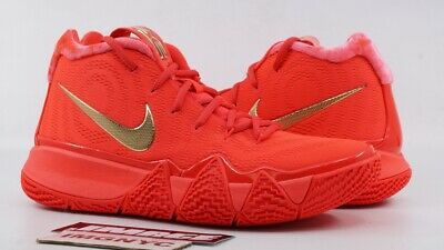 pretty nice 1bbbe d938c NIKE KYRIE 4 New Size 6.5 Sample Red Carpet Red Orbit Metallic Gold 555088  707