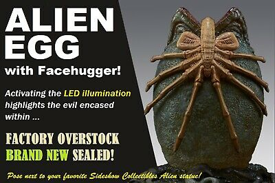 Sideshow ALIEN EGG1/4 SCALE COMPANION PIECE FACEHUGGER LED FEATURE ~~SEALED~~