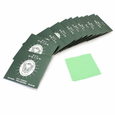 12 Pcs Velvet Jewelry Cleaning Polishing Cloth for Sterling Silver Gold Platinum