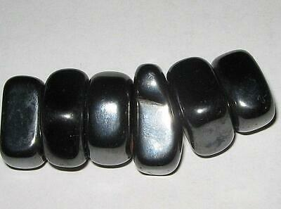 6 Lovely Polished HEMATITE Magnetic Tumble Stones/ REIKI HEALING/ A1 GRADE