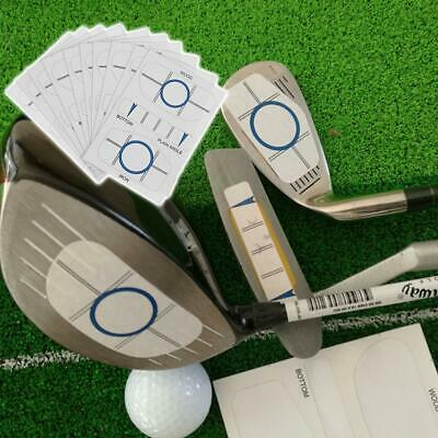 10Sets Golf Impact Tape Label Recorder Kit for Wood Iron Putter Practice Trainer