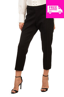 279873c318 RRP€120 STRETCH By PAULIE Trousers Size 46 XXL Patterned Cropped Made in  France