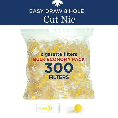 Cut-Nic 8 HOLE EASY DRAW Disposable Cigarette Filters - Bulk Economy Pack...